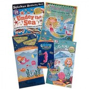 Under the Sea & Mermaids Sticker & Games Activity Books; Create a Town/Underwater Origami Mermaids Kit with YouTube Video Instructions; Grow Color Changerz (just add icy water!)- Awesome bundle!
