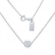 Silvego Stříbrný náhrdelník s přívěskem srdce - SMJN019DD7