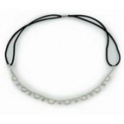 Štrasová čelenka do vlasů obloučky 5685-2 5685-2
