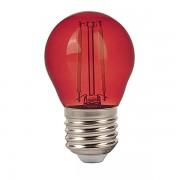 LAMPADINA LED E27 2W FILAMENTO ROSSA A BULBO VT-2132-LED7413