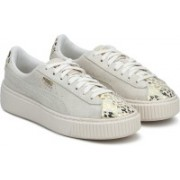 Puma Suede Platform AthLuxe Jr Whisper White- Sneakers For Women(Grey)