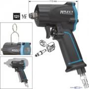 Hazet HAZET Avvitatore ad impulso extra corto 9012M . Coppia massima di disserraggio: 1100 Nm . Attacco quadro, massiccio, 12,5 mm (1/2 di pollice) . Massa battente Jumbo Hammer 9012M