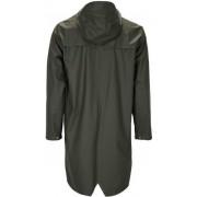 Rains Long Jacket regnkappa mörkgrön M-L