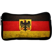 Snoogg German Flag Poly Canvas Student Pen Pencil Case Coin Purse Utility Pouch Cosmetic Makeup Bag