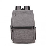 Universal Multi-Function Canvas Laptop Computer Shoulders Bag Leisurely Backpack Students Bag Size: 42x30x12cm For 15.6 inch and Below Macbook Samsung Lenovo Sony DELL Alienware CHUWI ASUS HP(Light Grey)