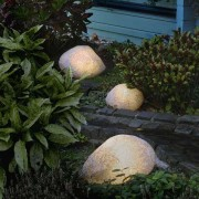 Stone Lamps with Rubber Connection, Granite 27 cm