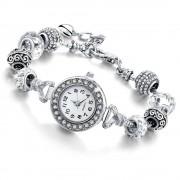 BelovedGioielli Orologio da donna con cristalli e beads - BIANCO (BelovedGioielli)
