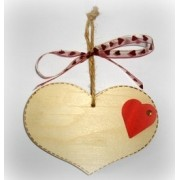Personalised Valentine's wooden heart plaque 2