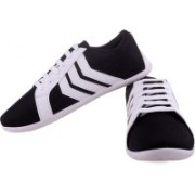 Shoe Striker Stripes Black Canvas Shoes(White)