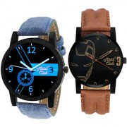 Mont Club Analog Round Casual Wear Watches Combo for Men