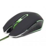 Мишка Gembird MUSG-001-G, оптична (2400dpi), USB, черна, гейминг