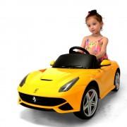 Auto A Bateria Ferrari F12 Nuevos 12v Amarillo Rastar