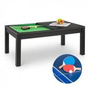 OneConcept Liverpool mesa de juego 3 en 1 billar 7' tenis de mesa, mesa para comer negro (FIT4 Liverpool BK)