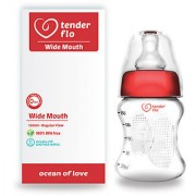 Wide Mouth FEEDING BOTTLE+Includes lsr soother nipple(150 ml) (Color May Vary) Premium Quality