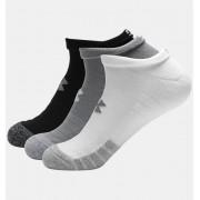 Under Armour Adult HeatGear® No Show Socks 3-Pack Gray XL