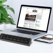 EH 2.4G Complemento Transceptor Fold Wireless Mouse Inalámbrico Ratones USB Plegable Ratón Negro