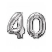 Vegaoo.se Aluminium ballong - 40 i silver 66 cm