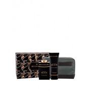 Set cadou Bvlgari Man In Black (Apa de parfum 100 ml + After shave balsam 100 ml + Geanta cosmetice), pentru barbati