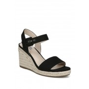 LifeStride Tango Espadrille Wedge Sandal - Wide Width Available BLACK