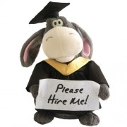 Animated Graduation Donkey Plush Cute Stuffed Animal Gift Sings Parody Song