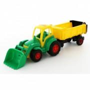 Tractor cu incarcator si remorca Champion 86 cm Polesie