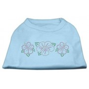 Mirage Pet Products Tropical Flower Rhinestone Pet Shirt, 3X-Large, Baby Blue