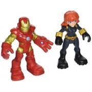Playskool Heroes Super Hero Adventures Iron Man & Marvels Black Widow Toy