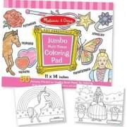 Caiet jumbo cu desene pentru colorat Melissa and Doug Roz