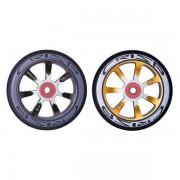 Crisp Hollowtech 100mm Wheel - Gold & Black Core, Black PU (2 Pack)
