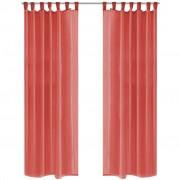 vidaXL Záves z látky voál, 2 ks, 140 x 245 cm, červený