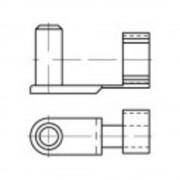 TOOLCRAFT sklopivi svornjak 16 mm čelik, pocinčani 10 komada