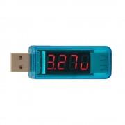 USB Detektor s voltmetrom a ampérmetrom modrý