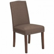 Flash Furniture Fabric Parson's Chair -Brown, 19.5Inch W x 26.75Inch D x 38.5Inch H, Model QYA139349BN