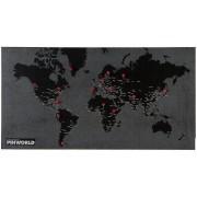 Palomar Dekoracja ścienna Mini Pin World czarna