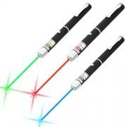 3 Stylos Pointeur Laser Vert Rouge Bleu/Violet Faisceau Visible 1mW