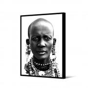 Pôdevache Bibolo - Toile imprimée visage 92,5x65cm - Couleur - Noir / Blanc