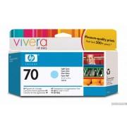 HP 70 Light Cyan Inkjet Print Cartridge, 130ml, EXP (C9390A)