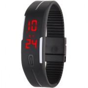 P N Slim Men Women Unisex Black LED Digital Casual Bracelet Band Led Watch 6 month warranty