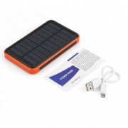 EY 50000 MAh Universal Dual USB Ports Outdoor Solar Powered Power Bank Large Capacity Power Charger For Phones-black