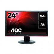 AOC G2460PF 61 cm (24-inch) monitor (DVI, HDMI, USB-hub, weergavepoort, 1ms responstijd, 144 Hz, 1920x1080, FreeSync) zwart