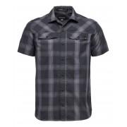 Black Diamond M Ss Benchmark Shirt - Black-Anthracite-Carbon Plaid - Shirts XL