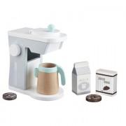 KIDS CONCEPT Kaffemaskin vit/grå 0304