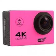 Eryanone F60 2,0 pulgadas de pantalla 4K 170 grados de ancho WiFi ángulo Deporte acción de la cámara nueva videocámara con el caso de cubierta impermeable, soporte for tarjeta de 64 GB Micro SD (Negro