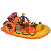 Barca Fireman Sam Neptune Cu Figurina Si Accesorii