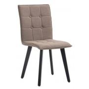 CLP Sedia sala da pranzo Miller, in tessuto, telaio color nero, taupe , tortora, altezza seduta