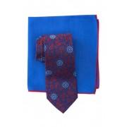 Ted Baker London Silk Scroll Medallion Tie Pocket Square Set RED