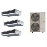 Samsung Climatizzatore SAMSUNG Trialsplit CANALIZZABILE BASSA PREVALENZA 3 X 18000 BTU Con unità esterna da AC140MXADKH R-410