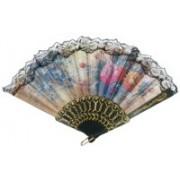 MOREL Foldable Floral Print Multicolor Hand Fan(Pack of 1)