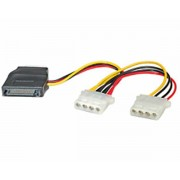 Kabel za SATA (f) na 3× 4-pin Molex (f)