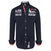 Giorgio Di Mare Worked Long Sleeved Shirt Navy GI4268016